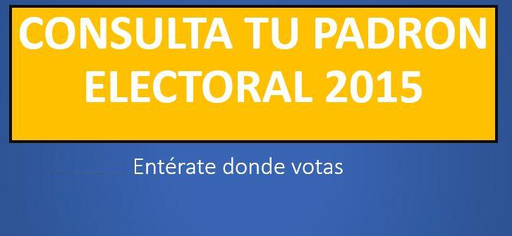 Consultar Padron Electoral 20150 (0)