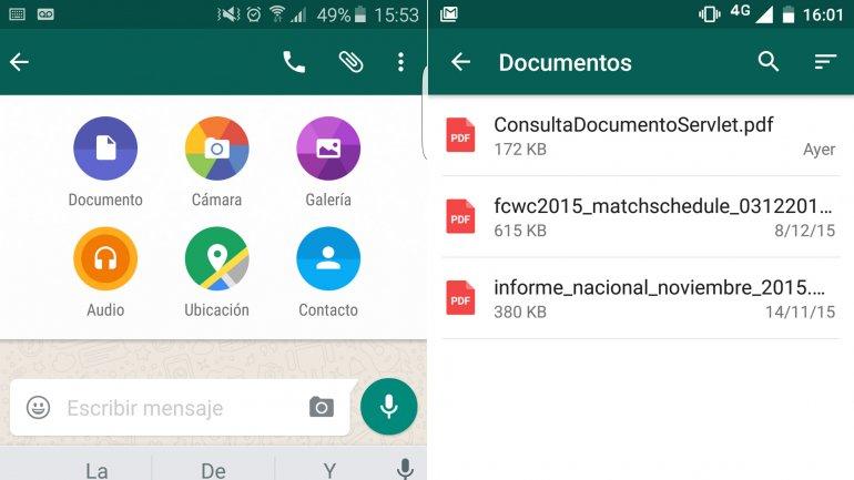 WhatsApp permite enviar PDF0 (0)