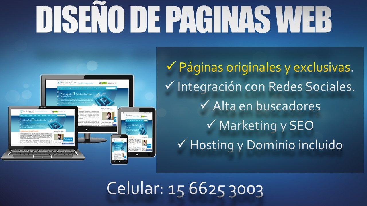 Diseño Web de Paginas Web en Bella Vista San Miguel Argentina